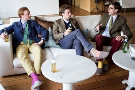 Gents in Socks and Slippers